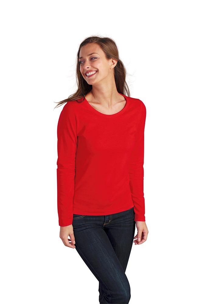 camiseta manga larga mujer basica