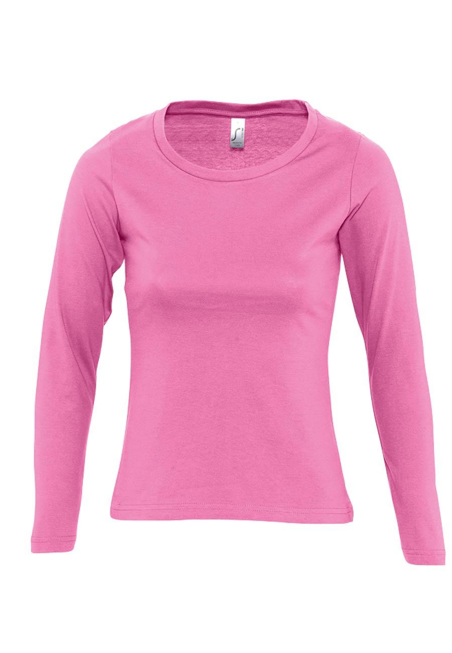 Camiseta mujer manga larga cuello redondo MAJESTIC e745159544301