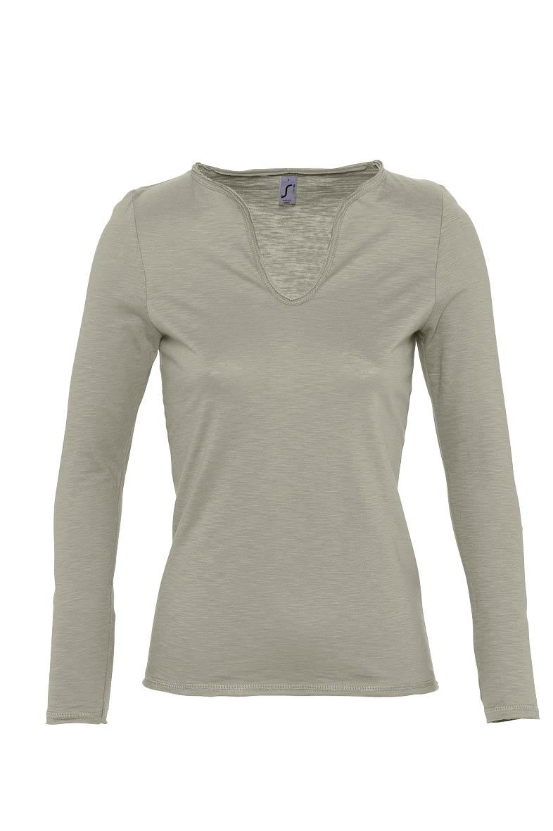 camiseta manga larga mujer corte moderno