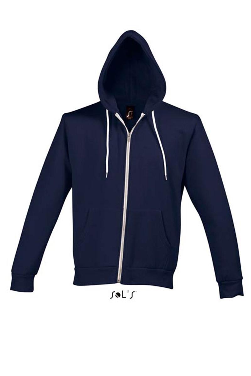 sudadera capucha azul