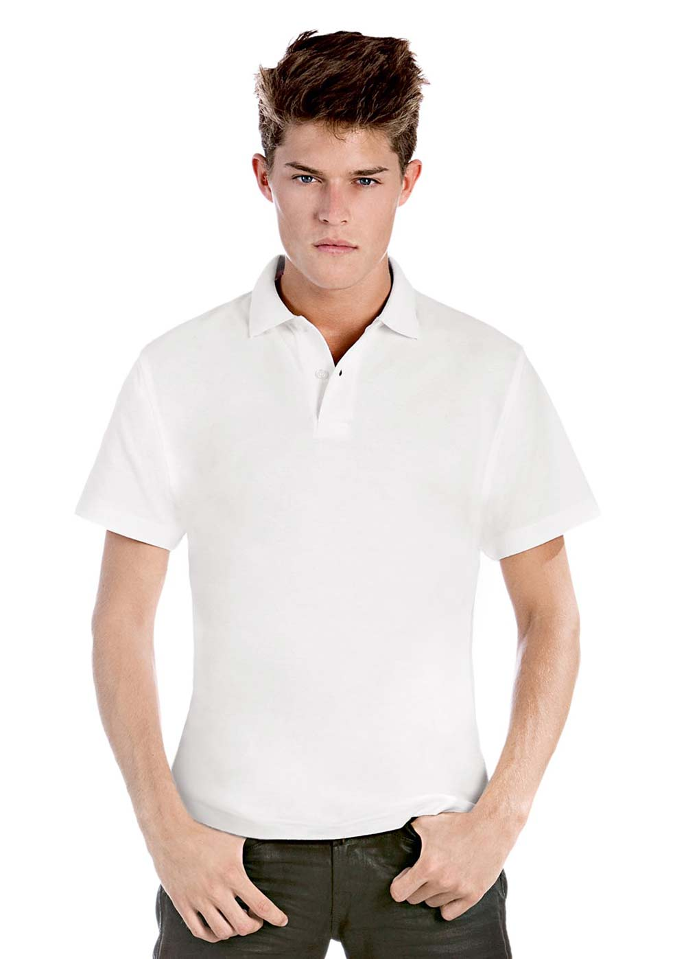 Polo manga corta pique hombre B&C Collection