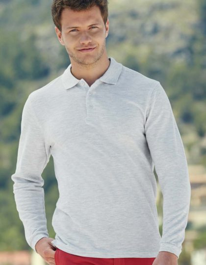 Polo manga larga hombre Fruit of the Loom Premium