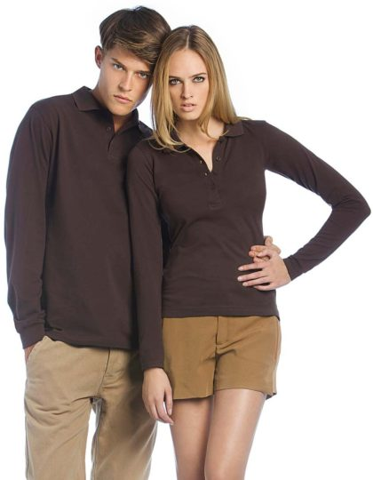 Polo unisex manga larga B and C Safran