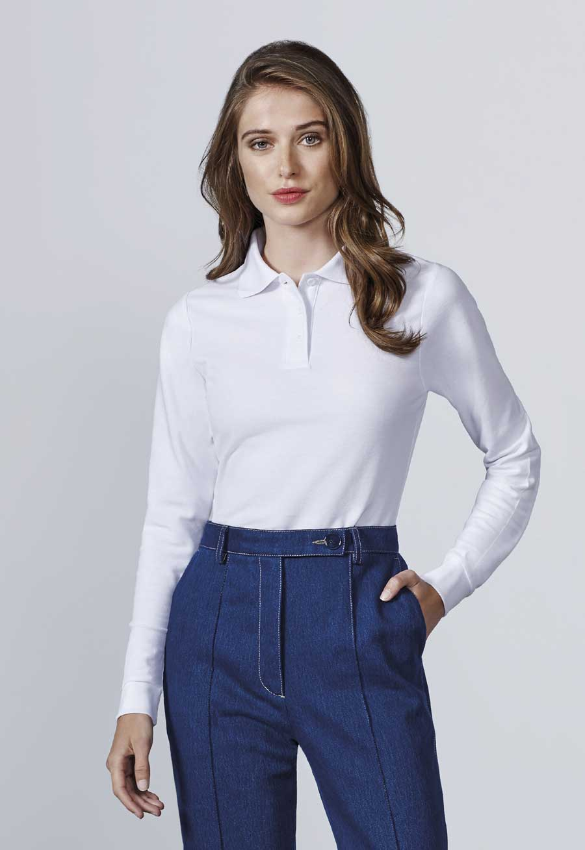 ropa mujer polo manga larga