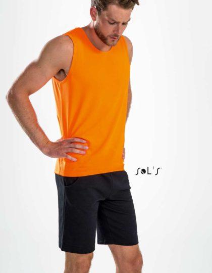 ropa tecnica deporte naranja