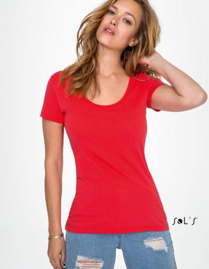 camiseta studio women roja