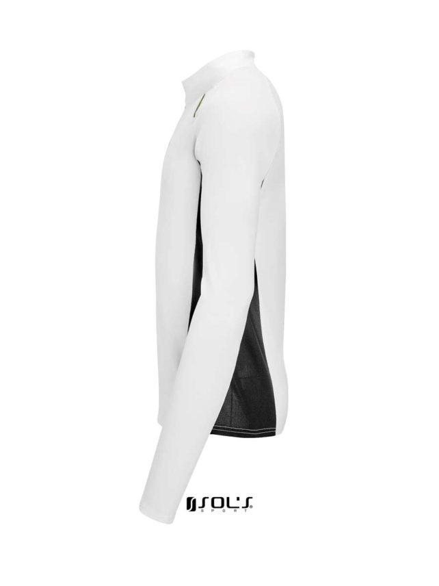 camisa tecnica blanca y negra