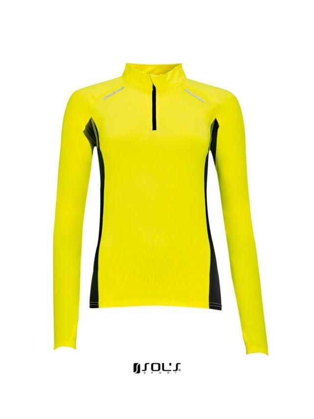 camisa tecnica amarillo