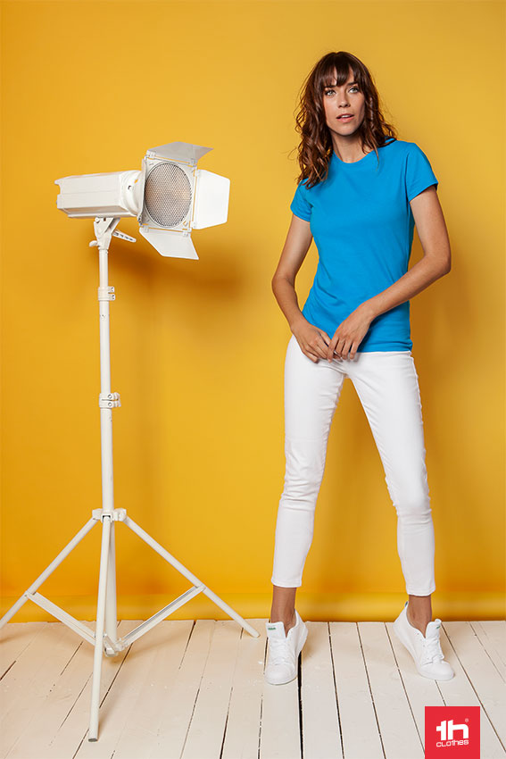 camiseta mujer azul