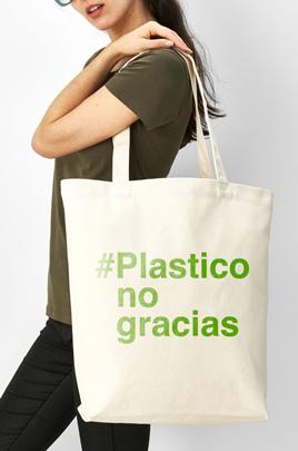 bolso personalizado plástico no gracias