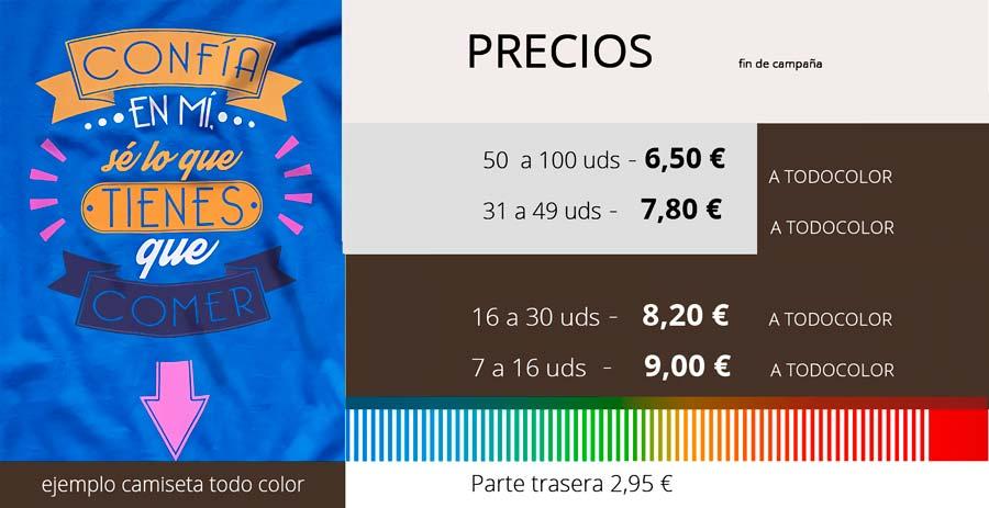 camisetas paellas tarifa