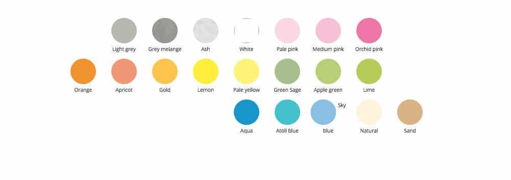 colores básicos unisex
