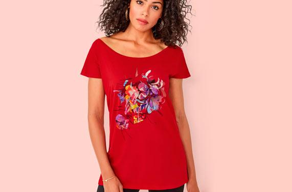 camiseta de mujer larga personalizada